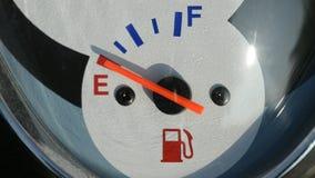Scooter fuel gauge closeup stock video footage