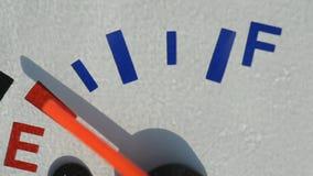 Scooter fuel gauge closeup stock footage