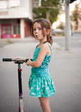 Scooter fun. Royalty Free Stock Image