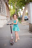 Scooter fun. Royalty Free Stock Images