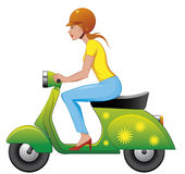 Scooter girl Stock Photo