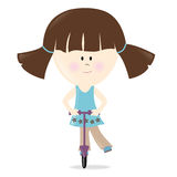 Scooter Girl Isolated Royalty Free Stock Image