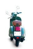 Scooter. Green scooter back view with realistic shadows over a white background - Includes separate clipping paths Stock Images
