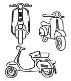 Scooter hand draw Royalty Free Stock Photo