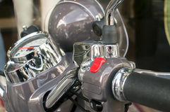 Scooter handlebar closeup Royalty Free Stock Photography