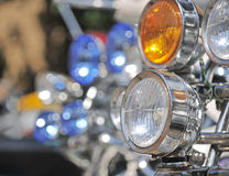 Scooter headlights. Stock Photo