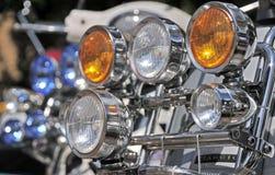 Scooter headlights. Stock Photos