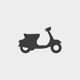 Scooter icon in a flat design in black color. Vector illustration eps10 Stock Photo