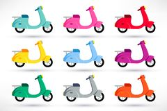 Scooter icons set royalty free illustration