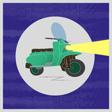 Scooter illustration icon on white background. Created For Mobile, Infographics, Web, Decor, Print Products, Applications. Icon isolated. Vector illustration Stock Photography