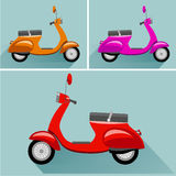 Scooter illustrations flat style Royalty Free Stock Photos