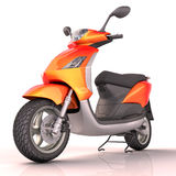 Scooter isolated Stock Image