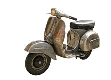 Scooter isolated. Retro vespa scooter on white background Royalty Free Stock Photo