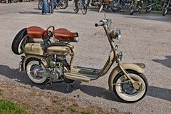 Scooter italien des années '50 Lambretta 125 Images libres de droits