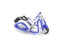 Scooter made from white and blue wire Stock Image