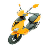 Scooter moderne d'isolement Photos stock