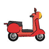 scooter motor transport icon Stock Photography