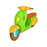 Scooter motorbike icon, cartoon style Royalty Free Stock Photo