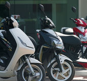Scooter motorbikes rent. Stock Photography
