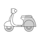 Scooter motorcycle icon Stock Photo