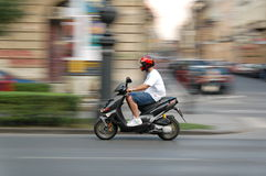 Scooter move Stock Image