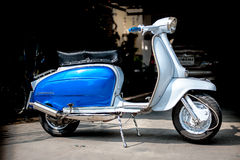 VINTAGE VESPA AND LAMBRETTA Royalty Free Stock Images
