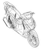 Scooter outline concept. Vector Stock Images