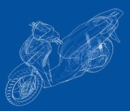 Scooter outline concept. Vector Royalty Free Stock Photography