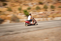 Scooter panning Royalty Free Stock Image