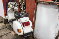 Scooter Parked in a House Royalty Free Stock Photos