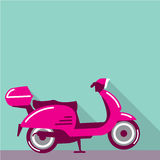 Scooter parked by the wall Royalty Free Stock Photo