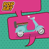 Scooter pop art design Stock Image