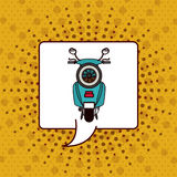 Scooter pop art design Royalty Free Stock Photos