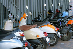 scooter postojowe Zdjęcia Royalty Free