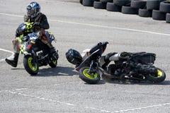 Scooter Prix Crash Stock Photography