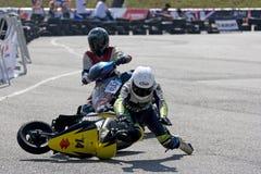 Scooter Prix Crash Royalty Free Stock Photo