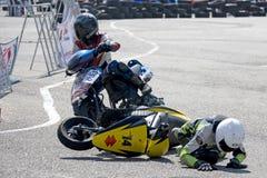 Scooter Prix Crash Stock Photo