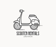 Scooter Rentals Logo Template Royalty Free Stock Image