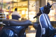 Scooter motorbike in street Royalty Free Stock Images