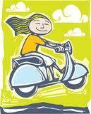 Scooter Ride 2 Stock Images