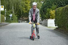 Scooter ride Royalty Free Stock Photo