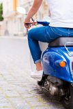Scooter ride. Royalty Free Stock Image