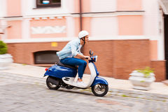 Scooter ride. Royalty Free Stock Photo