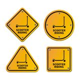 Scooter riding signs Stock Photos