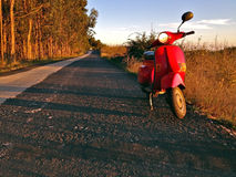 Scooter on the road Royalty Free Stock Images