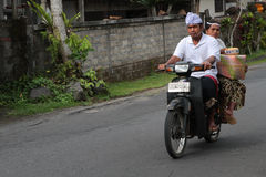 Scooter on the roads of Bali Royalty Free Stock Image