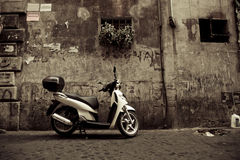 Scooter in Rome Royalty Free Stock Photo