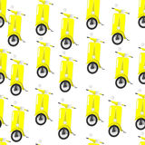 Scooter seamless pattern. Yellow scooter seamless pattern Royalty Free Stock Image