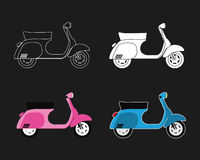 Scooter  set Stock Photos