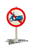 Scooter sign Royalty Free Stock Photo
